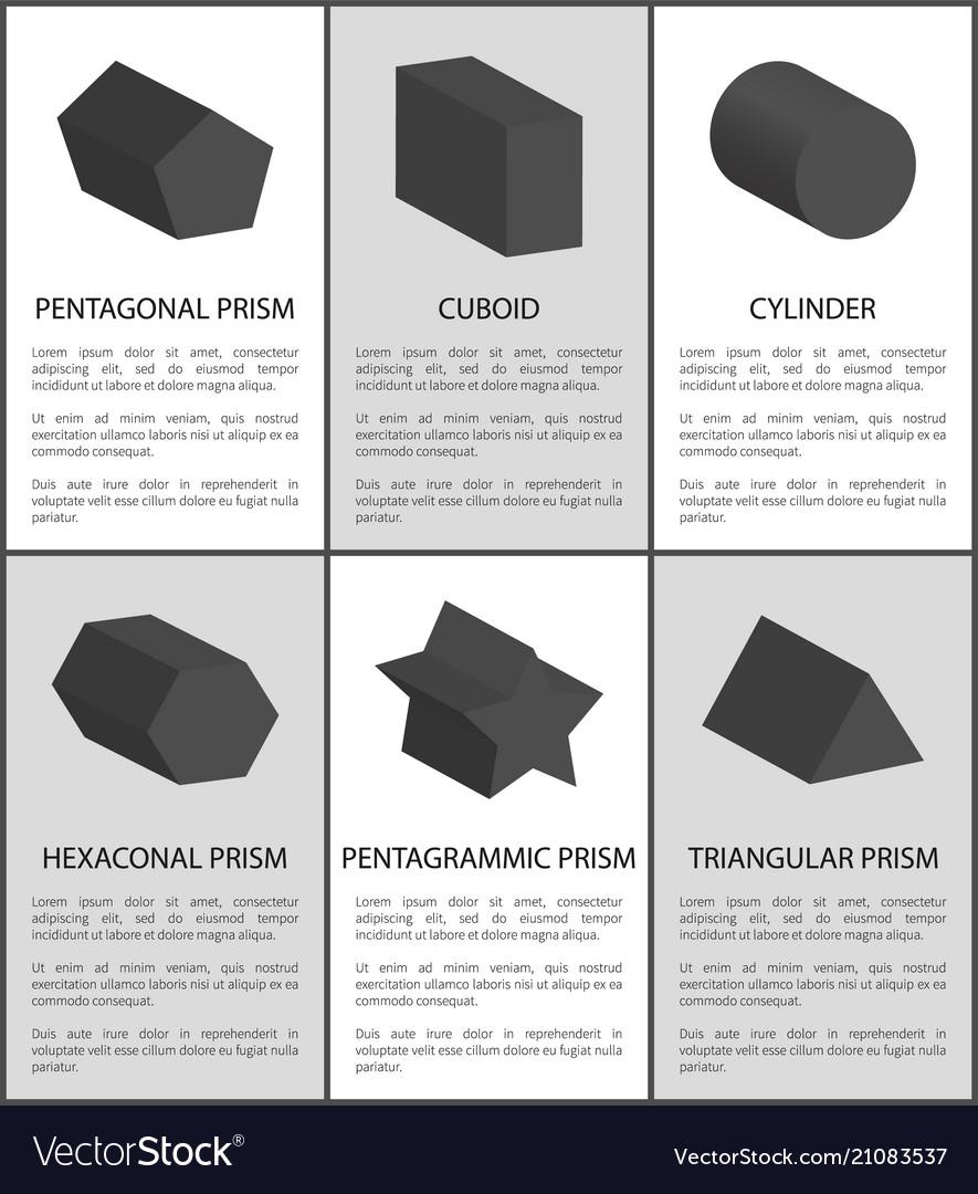 Pentagrammic pentagonal and hexagonal prisms set