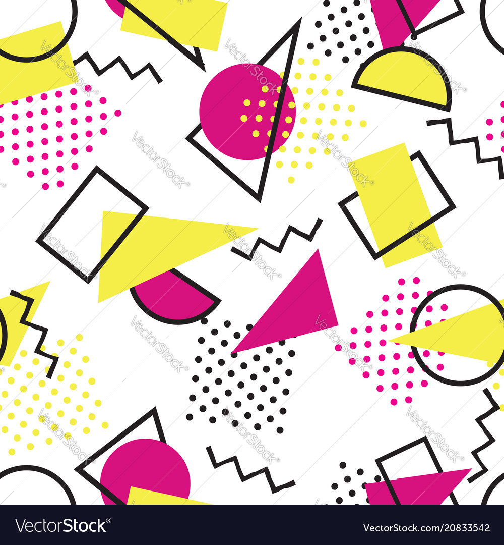 Abstract seamless pattern with blots and dots