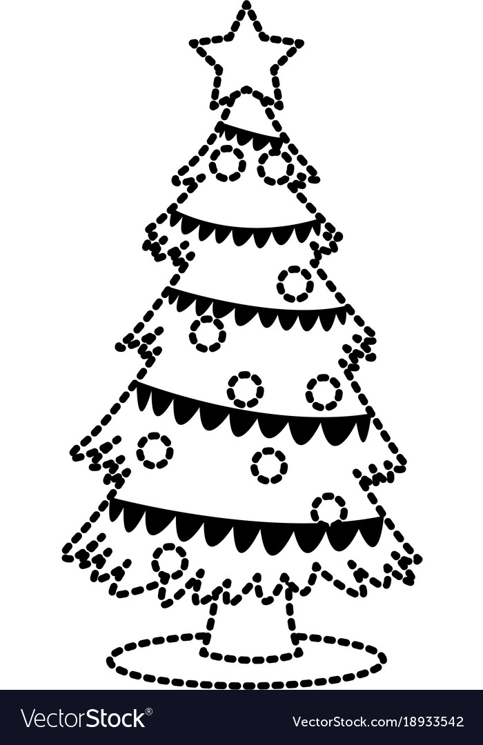 Cute christmas tree vector image