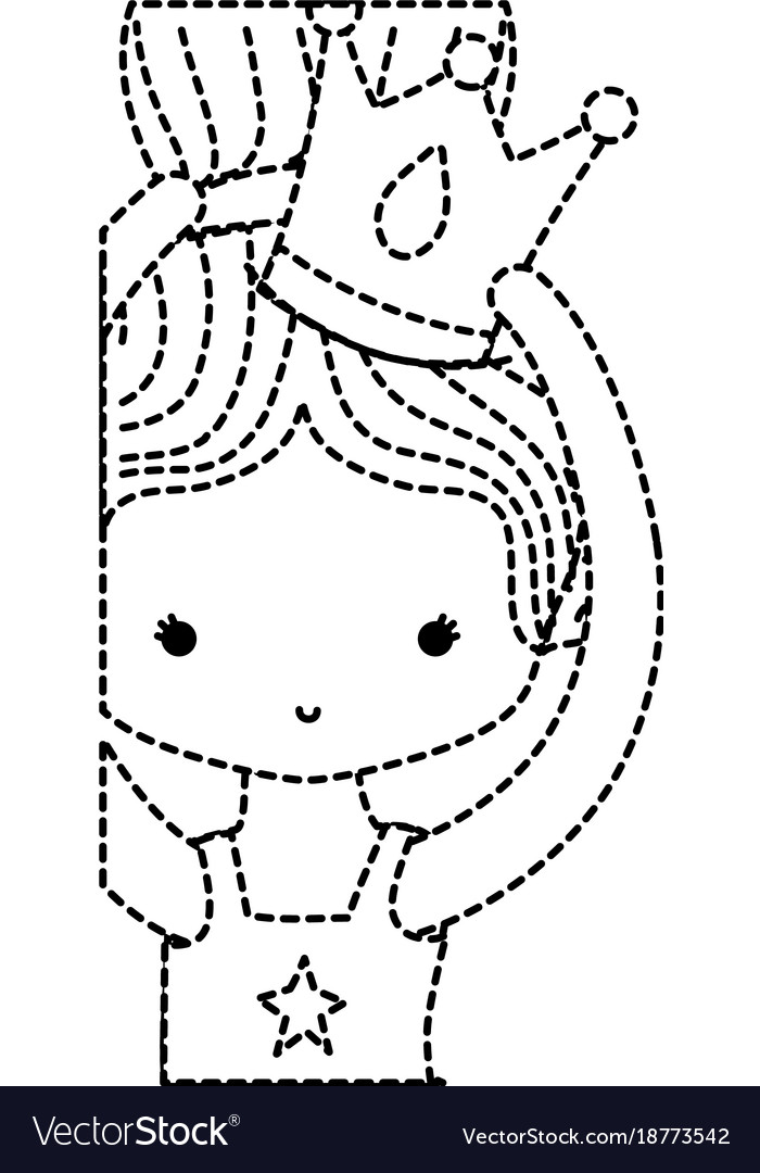 Dotted Shape Girl Dancing Ballet With Bun Hair Vector Image
