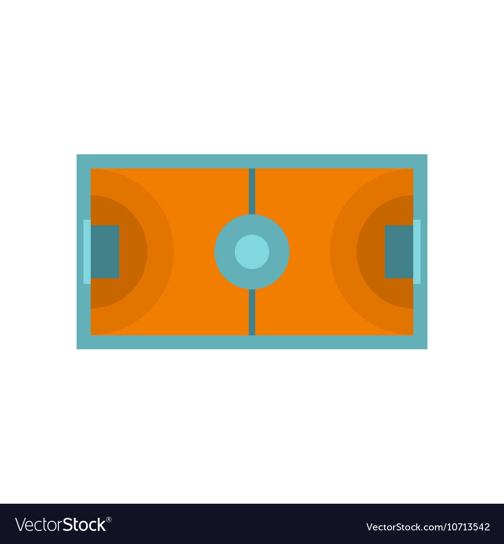 futsal or indoor soccer field icon flat style vector image vectorstock