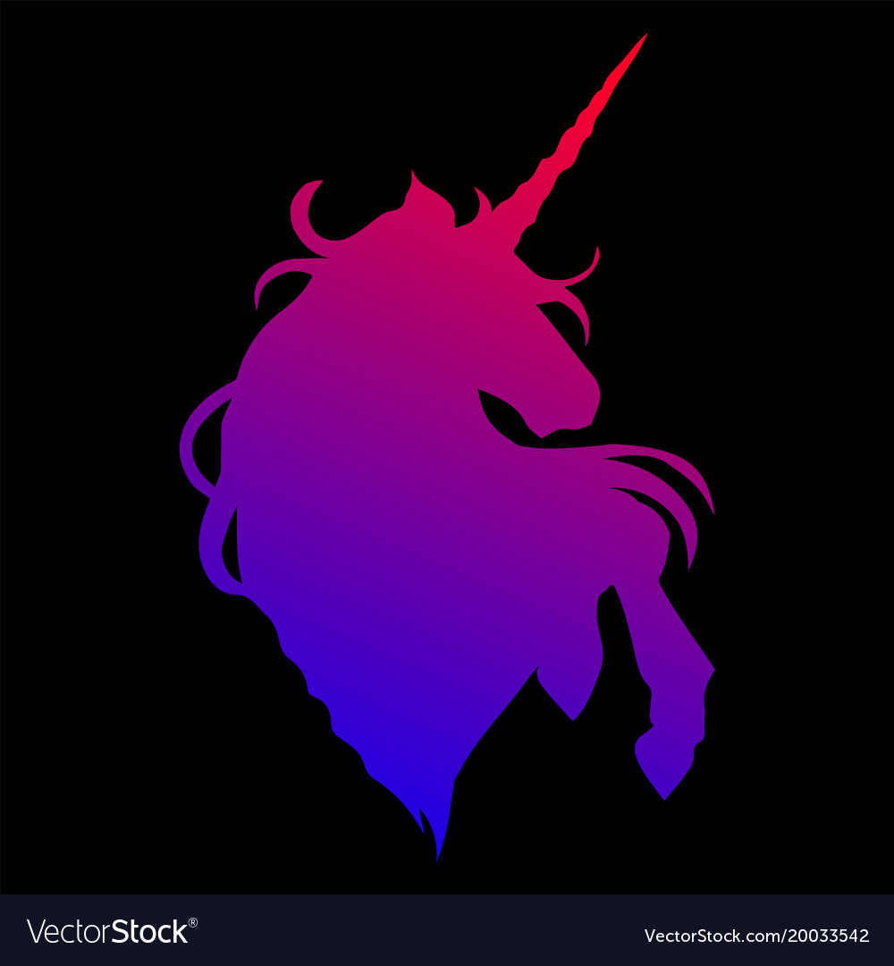 Graphic unicorn silhouette