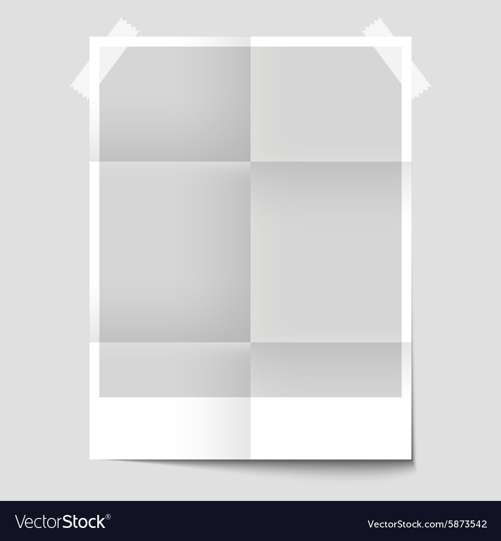 Isolated Blank Poster For The Presentation Of Vector Image