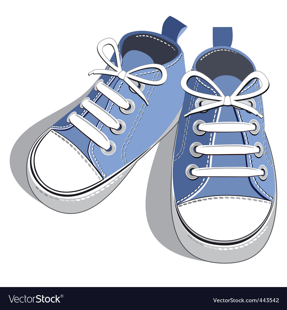Kids shoes Royalty Free Vector Image