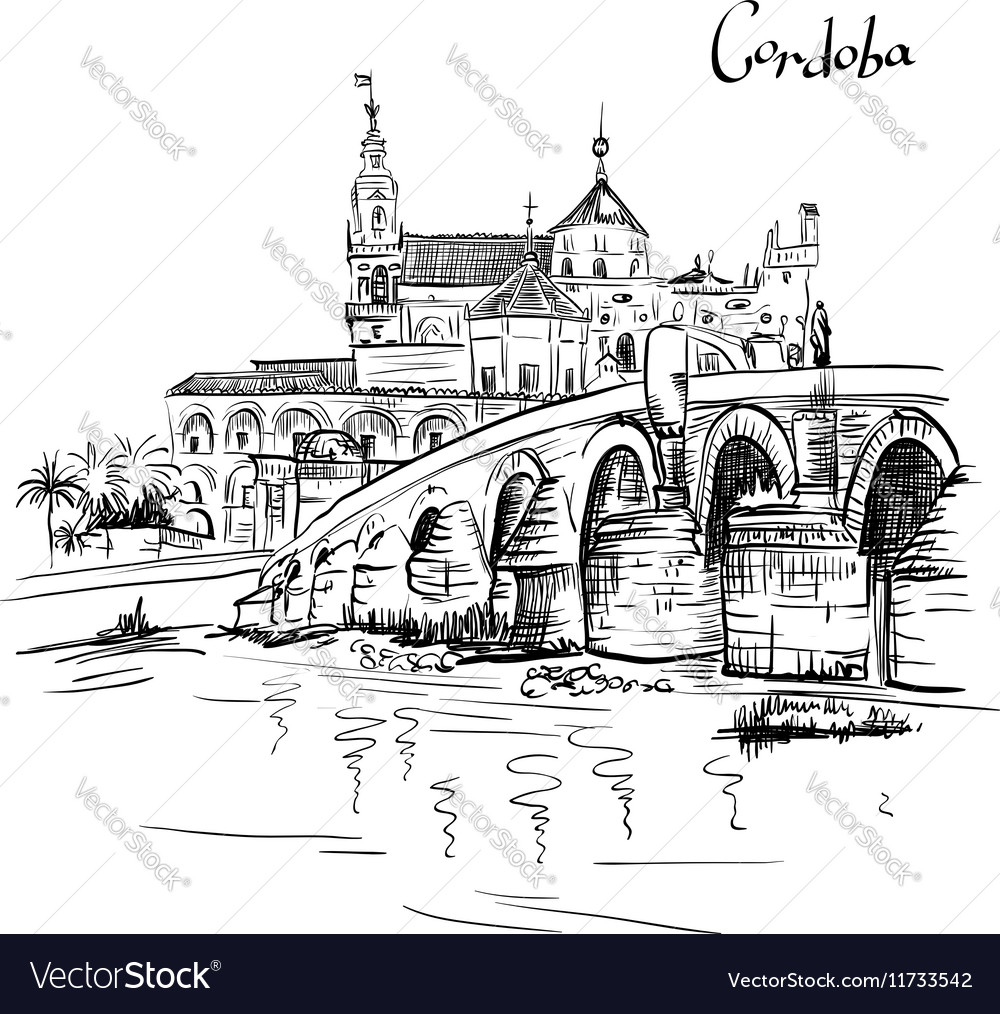 Mezquita and Roman bridge in Cordoba Spain
