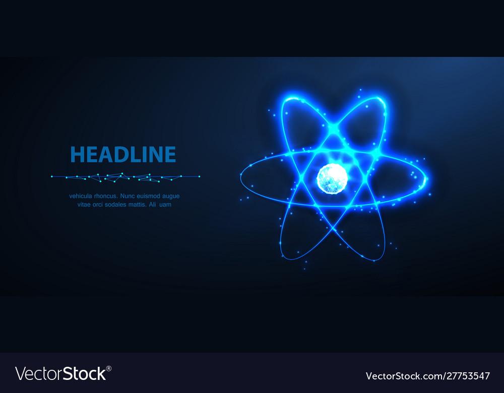 Atom abstract 3d phisics molecule atom