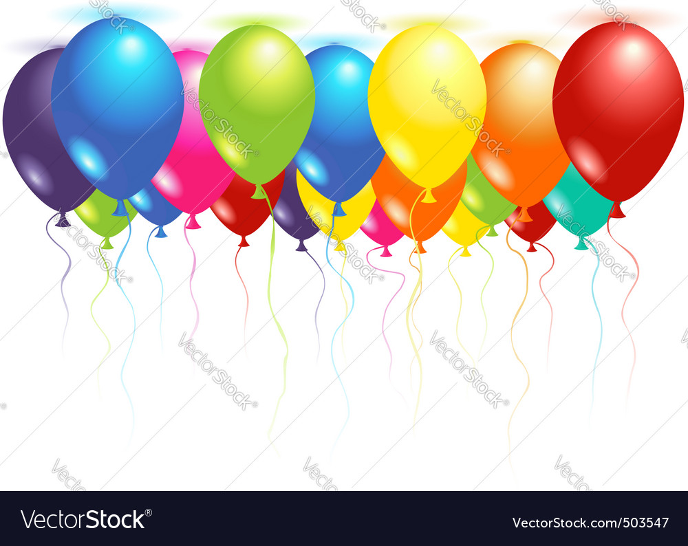 Ceiling balloons vector image