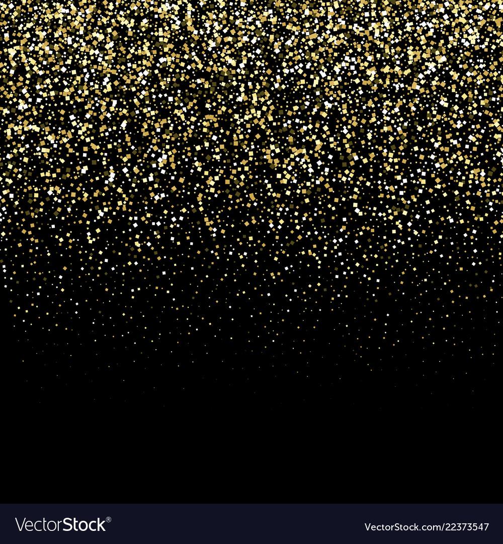 Gold glitter texture on a black background golden