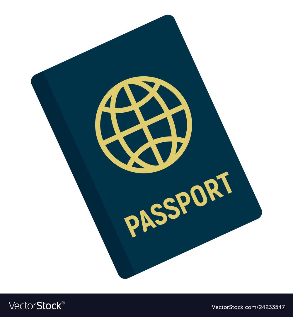International passport icon flat style