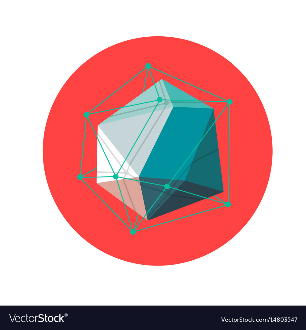 Lowpoly geometric shape vector image