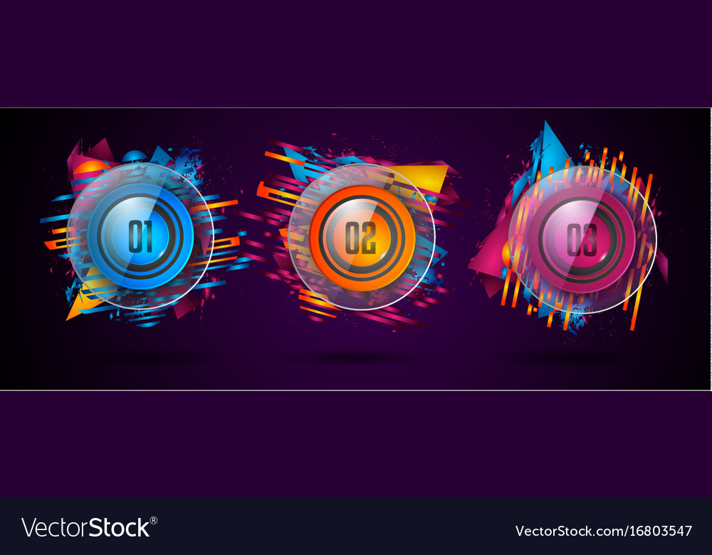Modern infographic brochure template for product vector image