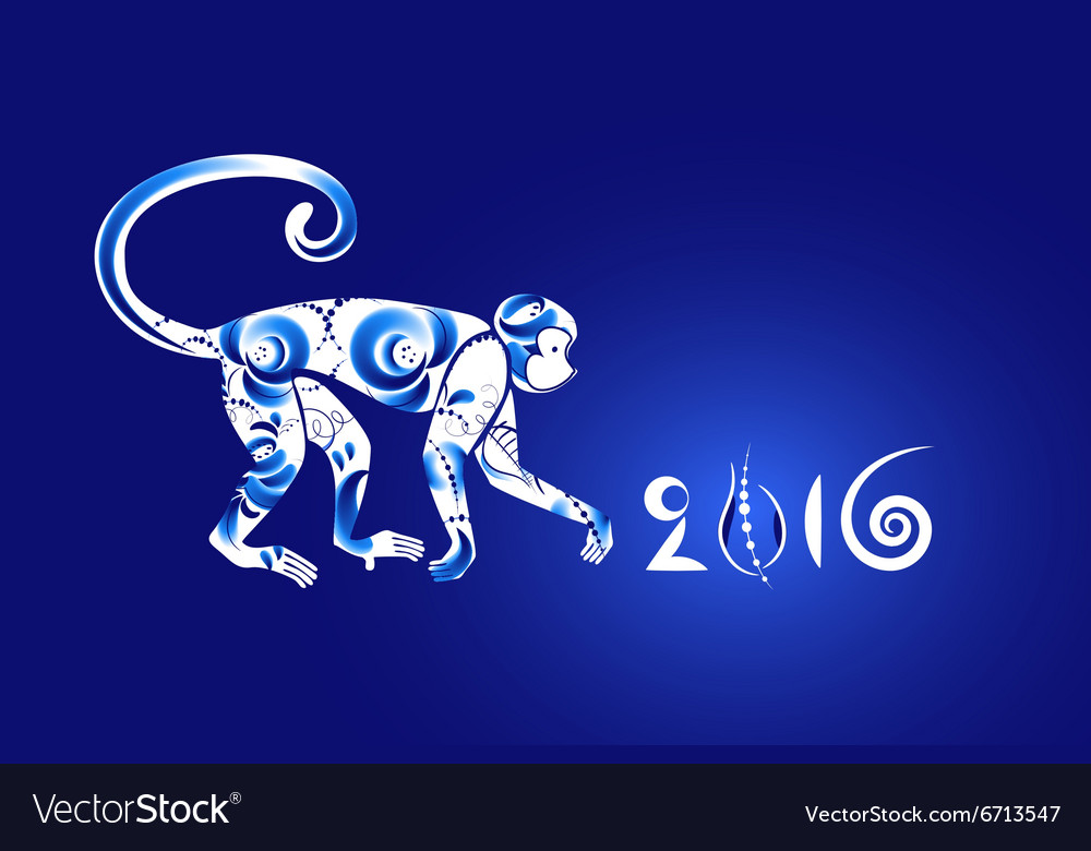 Oriental horoscope Year of the Monkey vector image