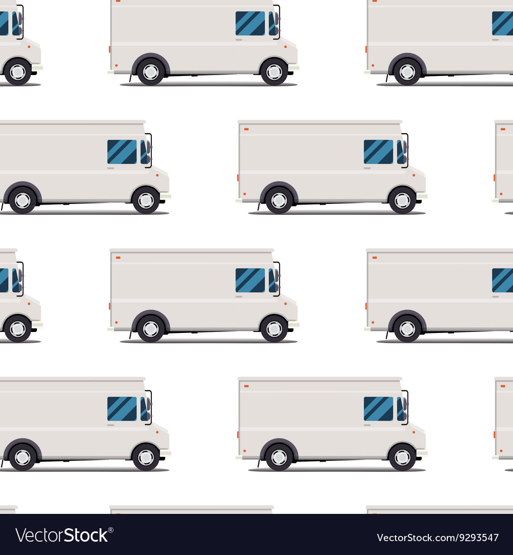 Seamless pattern of delivery trucks