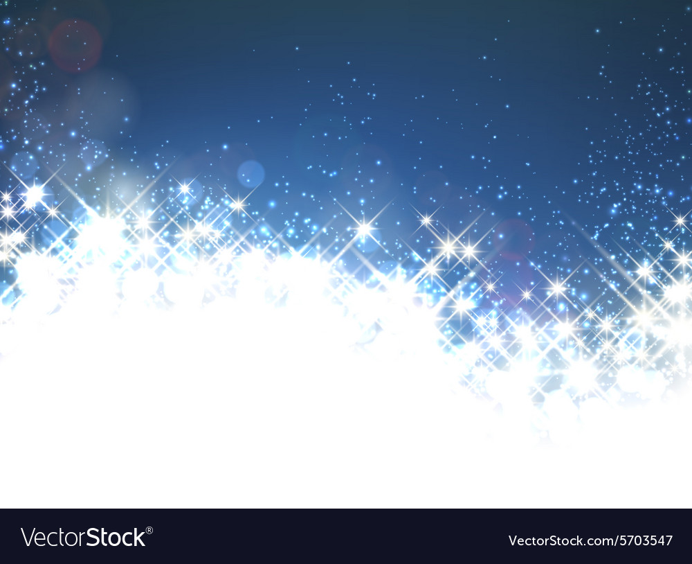 winter starry christmas background vector image - Starry Christmas