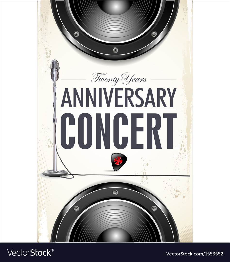 Anniversary Rock concert poster