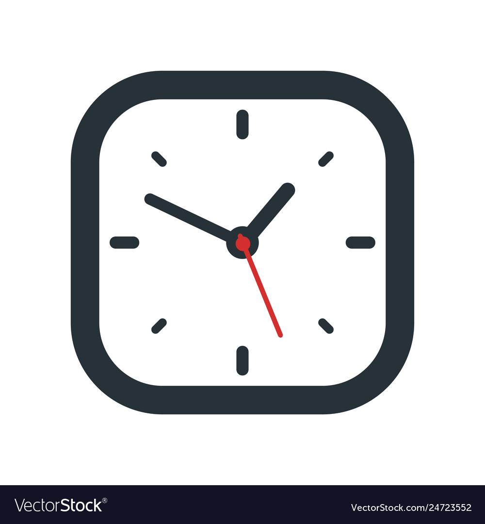 Clock icon design isolated on white background