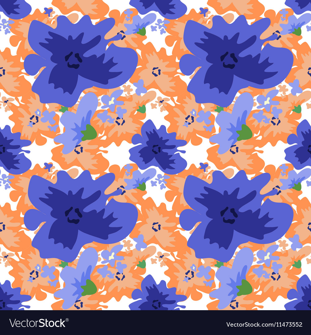 Ditsy pattern with flowers