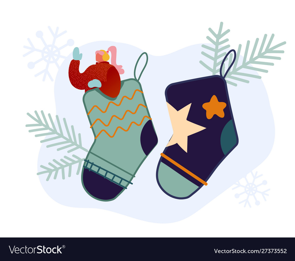 Festive winter season holiday people