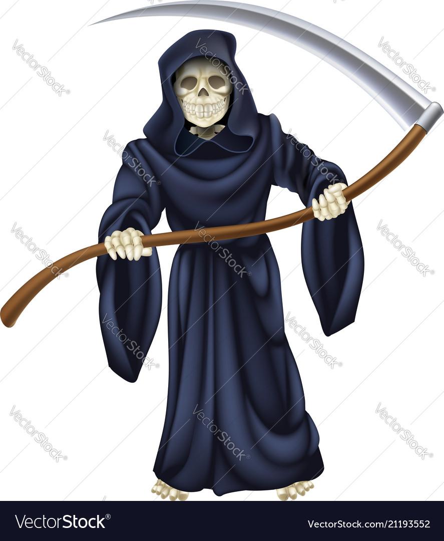 Grim reaper death skeleton
