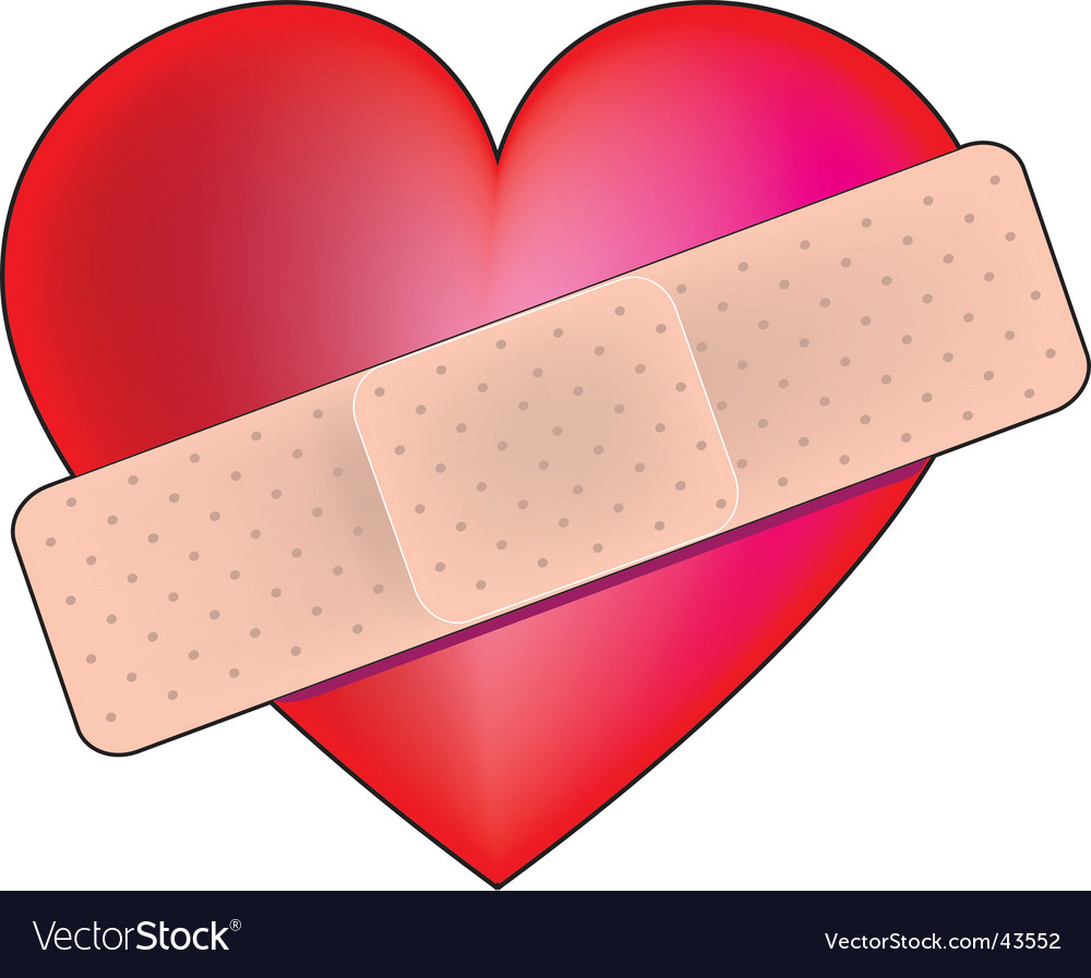 heart bandaid royalty free vector image vectorstock rh vectorstock com band aid vector icon
