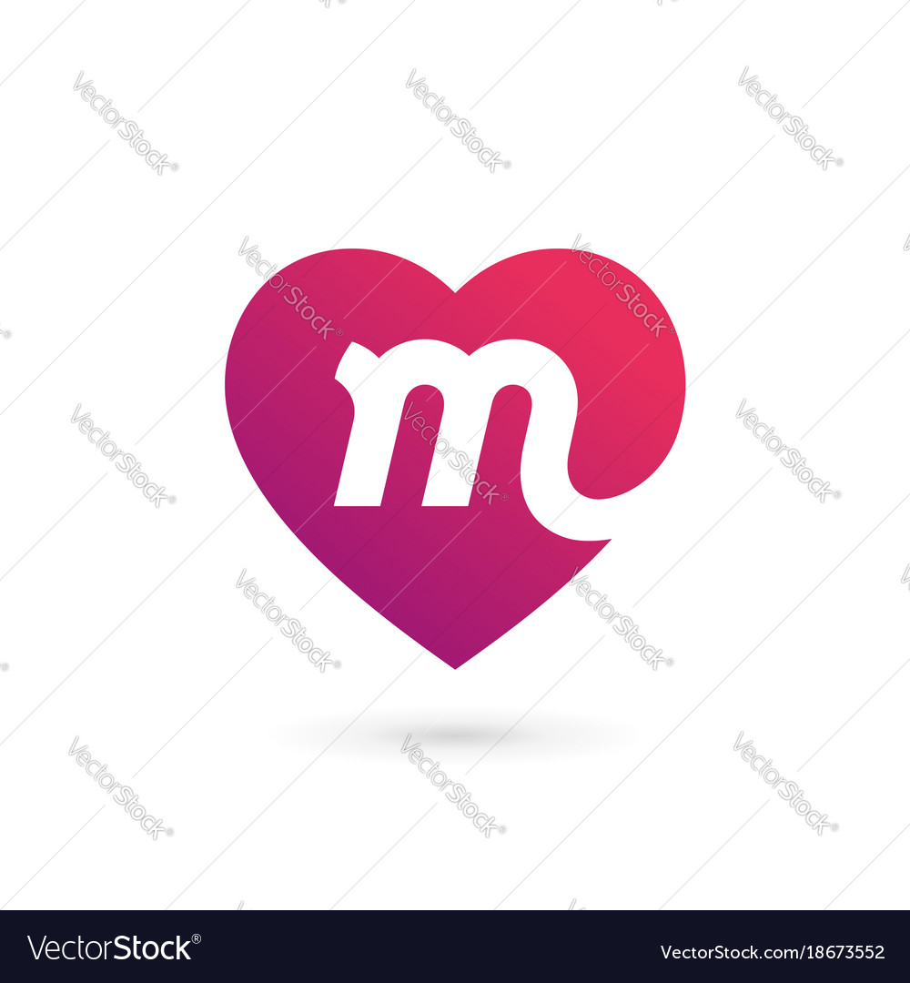 Heart, Letter & M Vector Images (42)