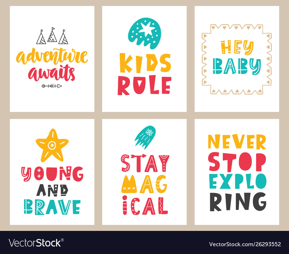 Posters Set Royalty Free Vector Image