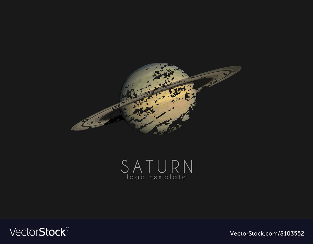 Saturn logo design Planet logo Cosmic logo