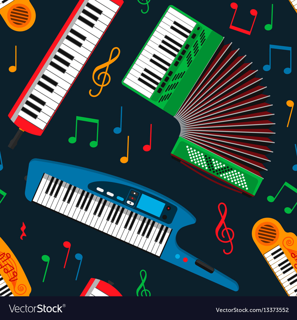 Synthesizer piano musical equipment seamless