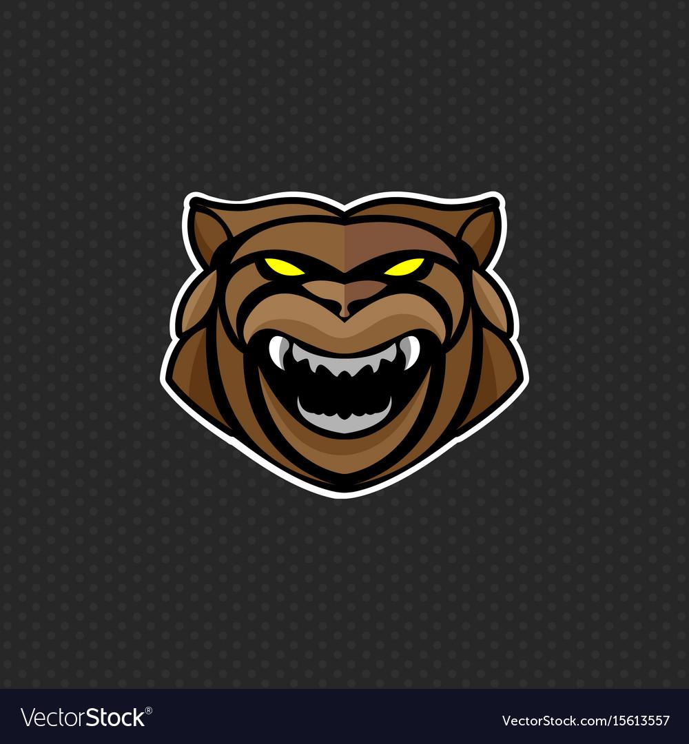 Bear logo design template bear head icon