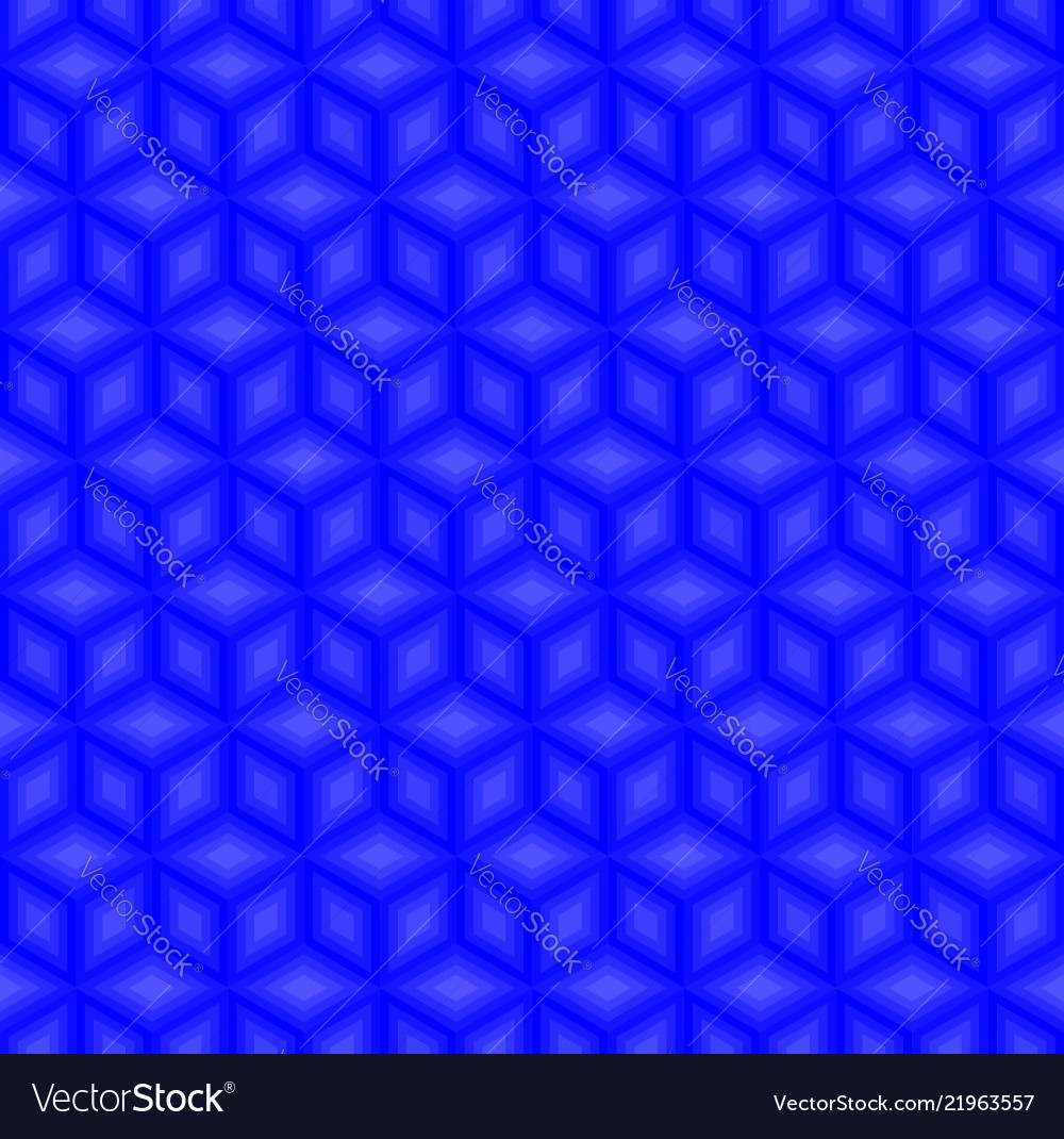 Blue cubes pattern seamless background