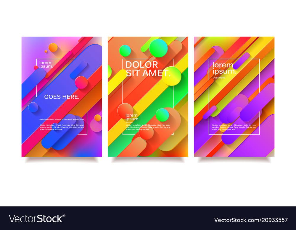 Business geometric design templates