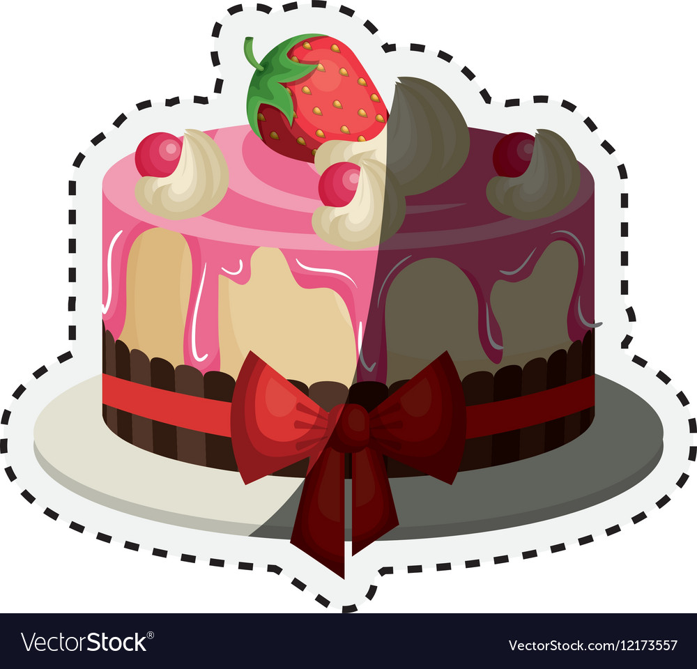 Delicious cake birthday card