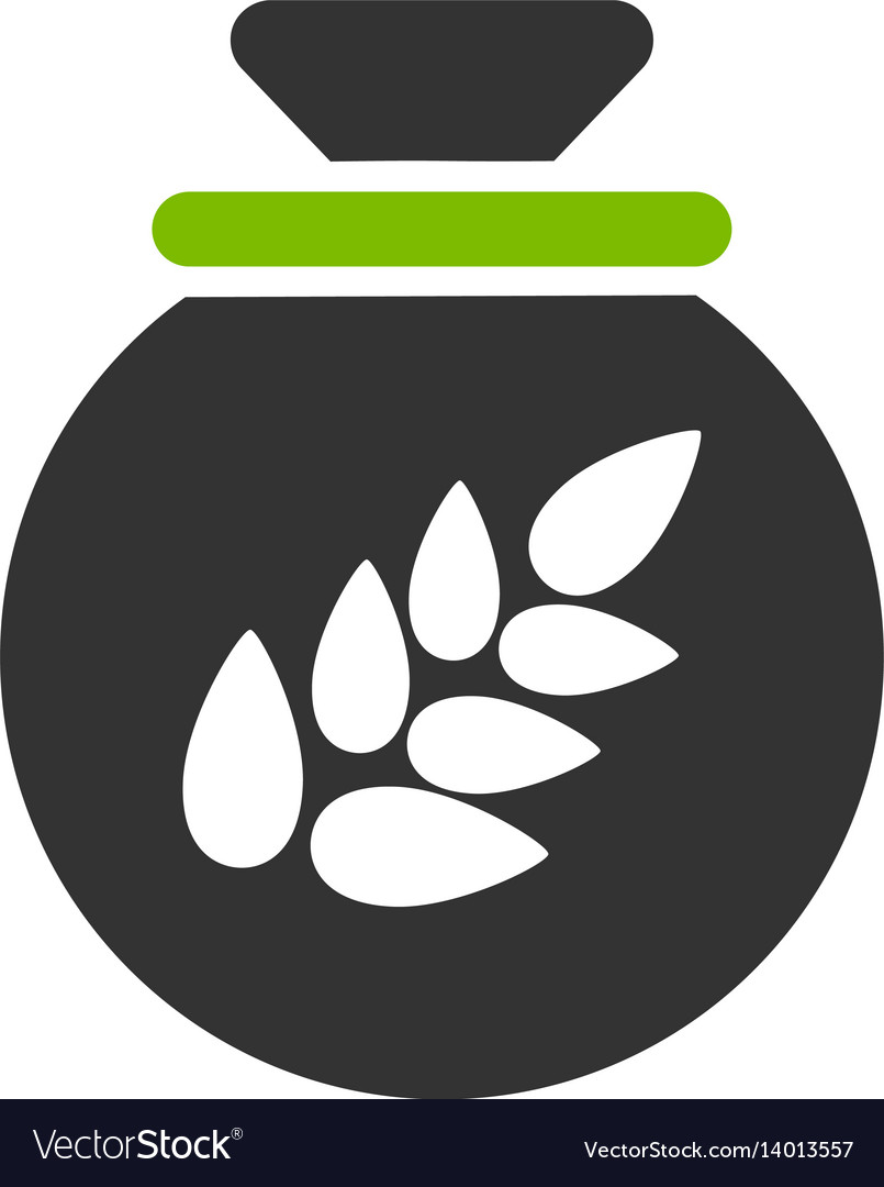 Grain harvest sack flat icon vector image