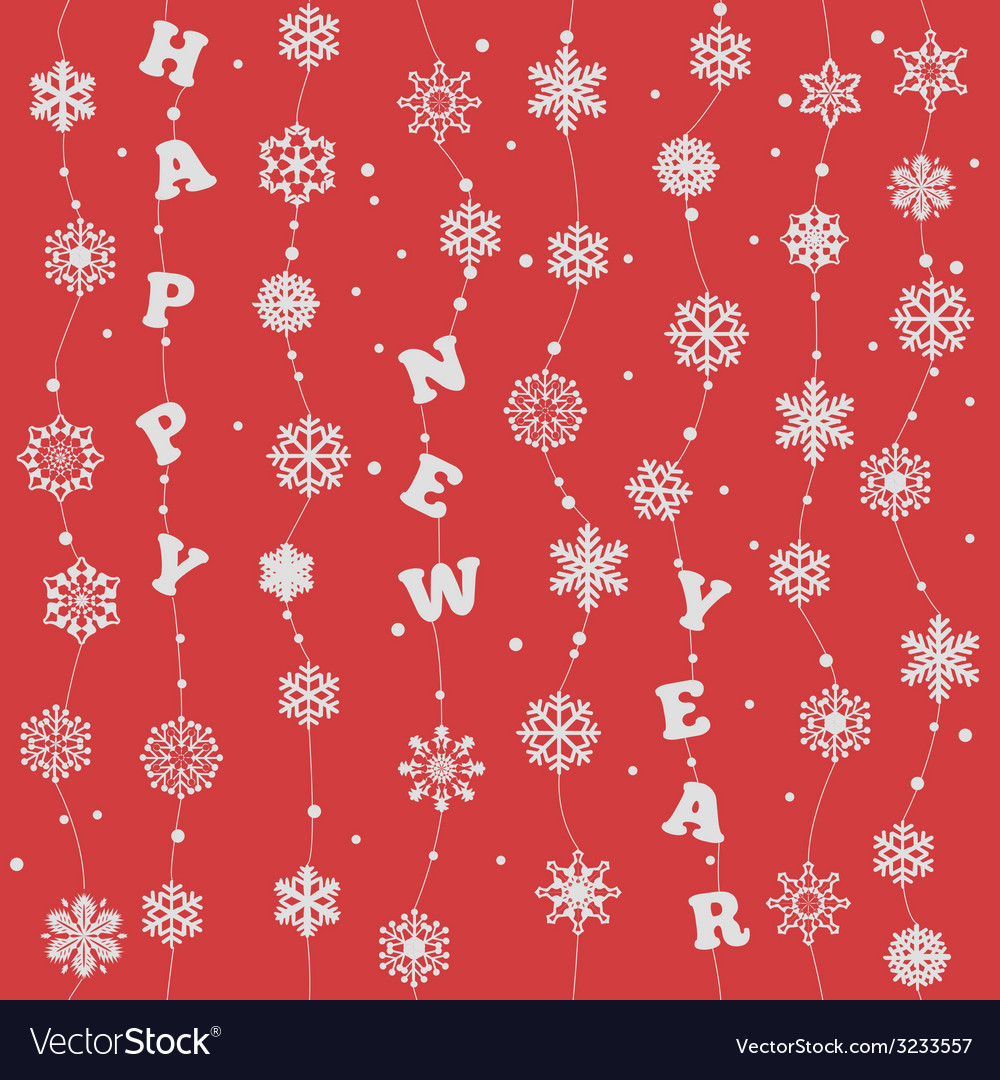 Happy New Year Seamless vector image