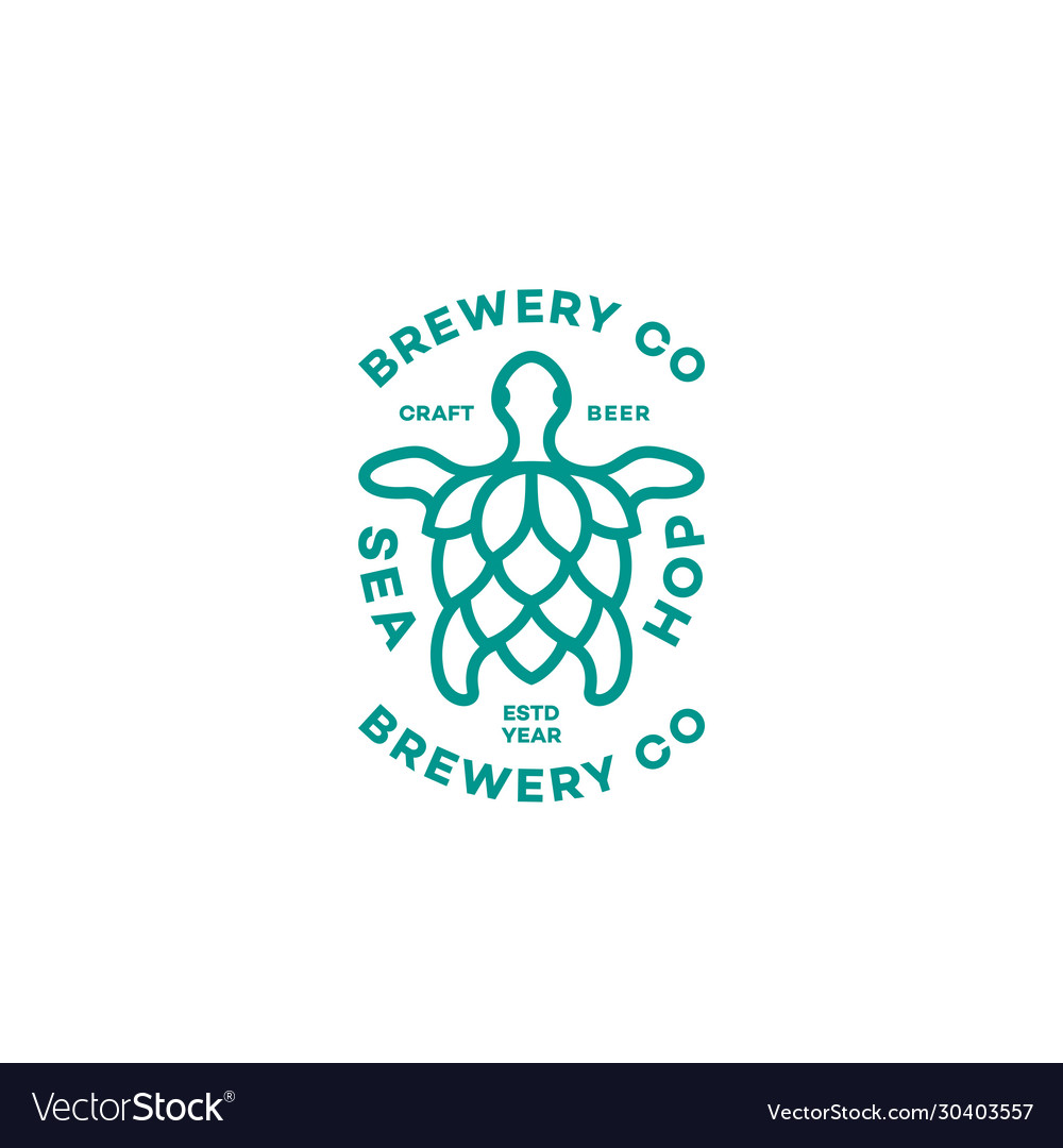 Sea hop logo vector