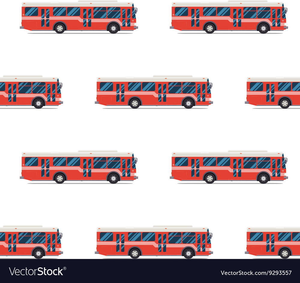 Seamless pattern of red buses
