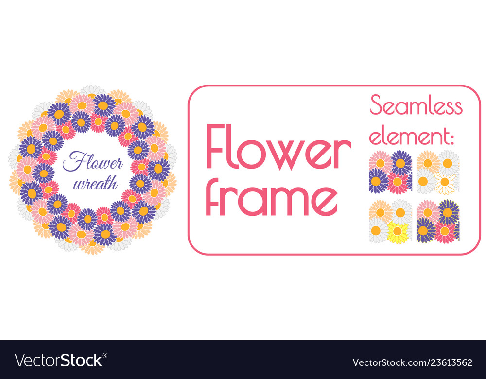 Circle spring wreath of gerberas and daisies plus