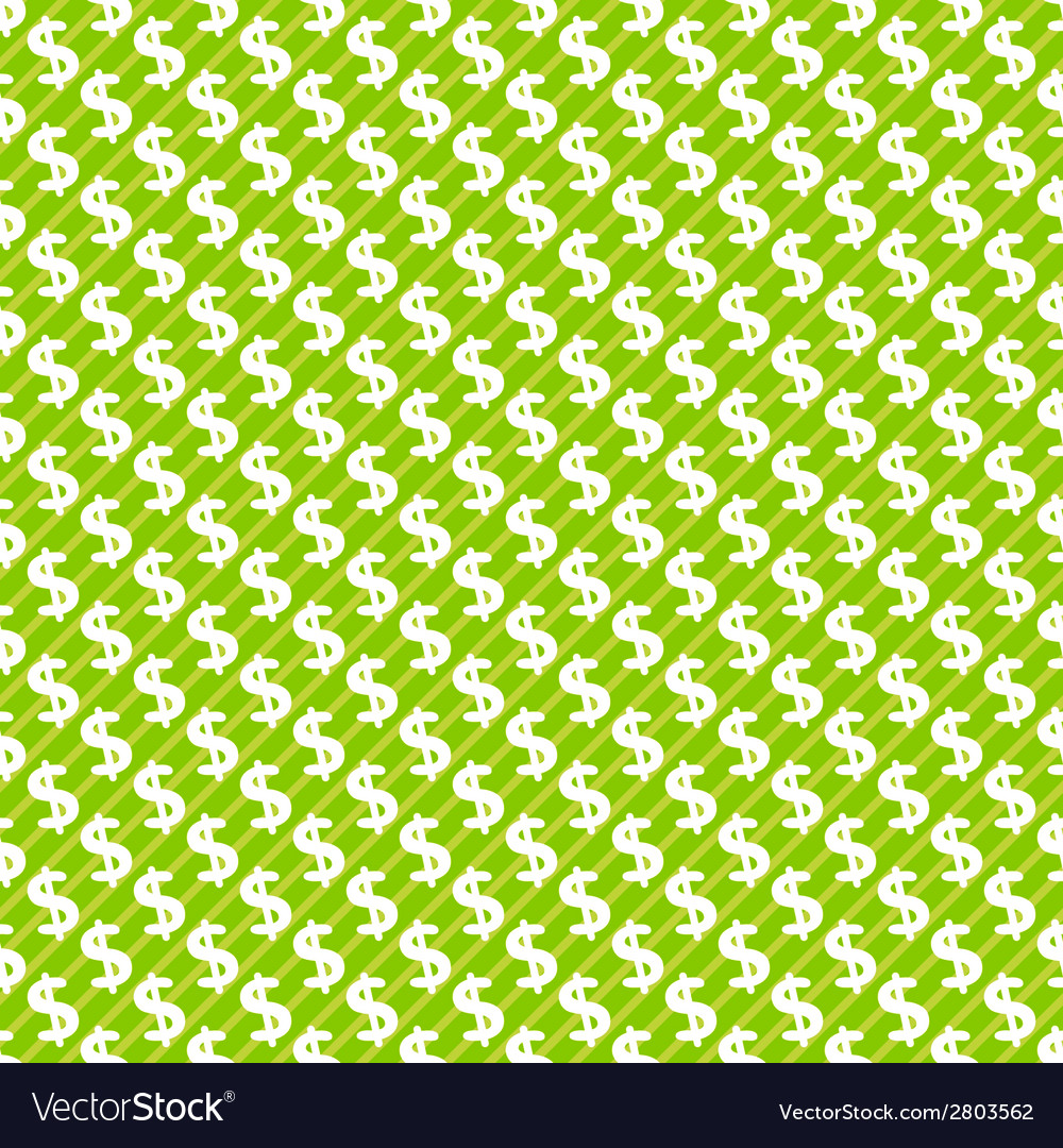 Dollar sign abstract seamless pattern background