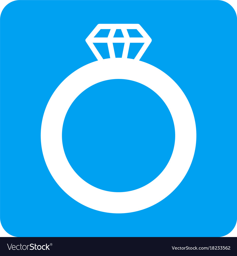Gem ring rounded square icon