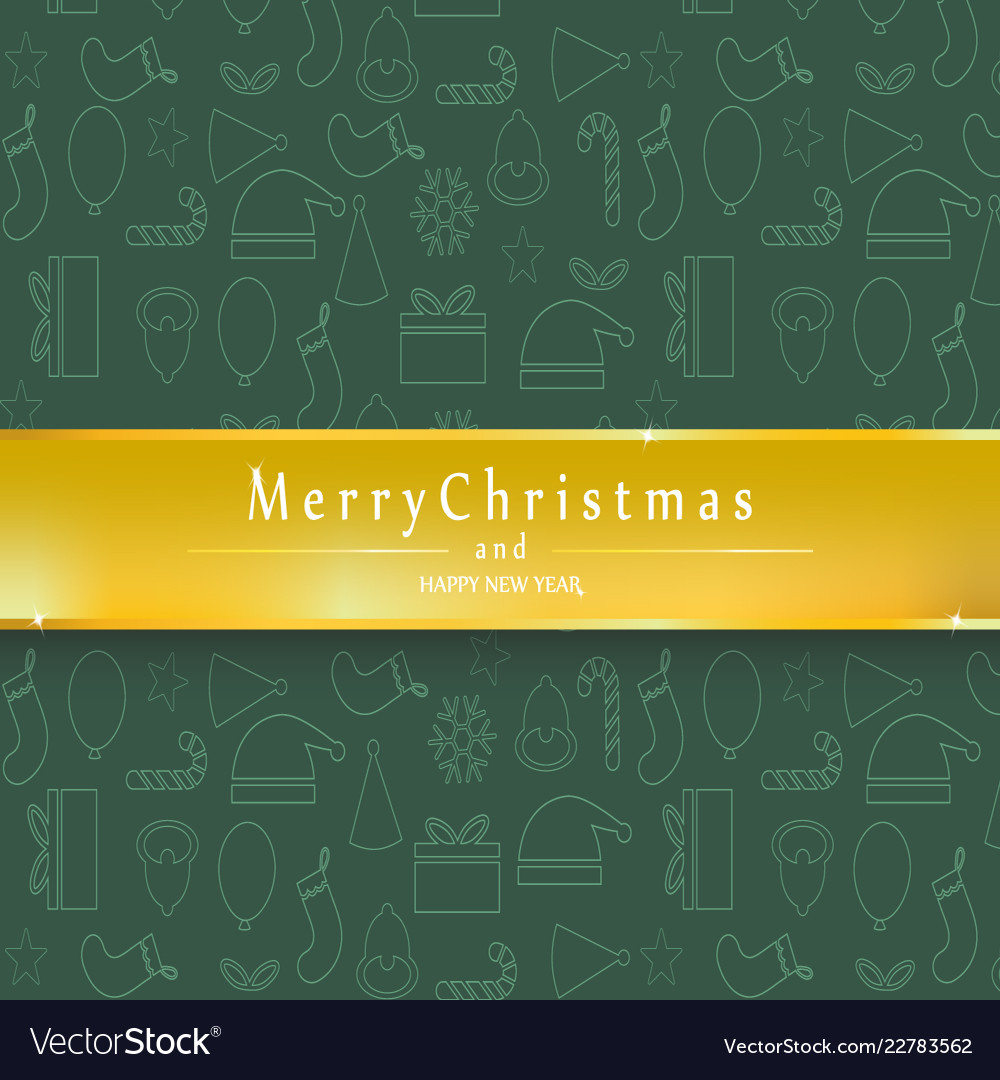 Green background merry christmas and happy new