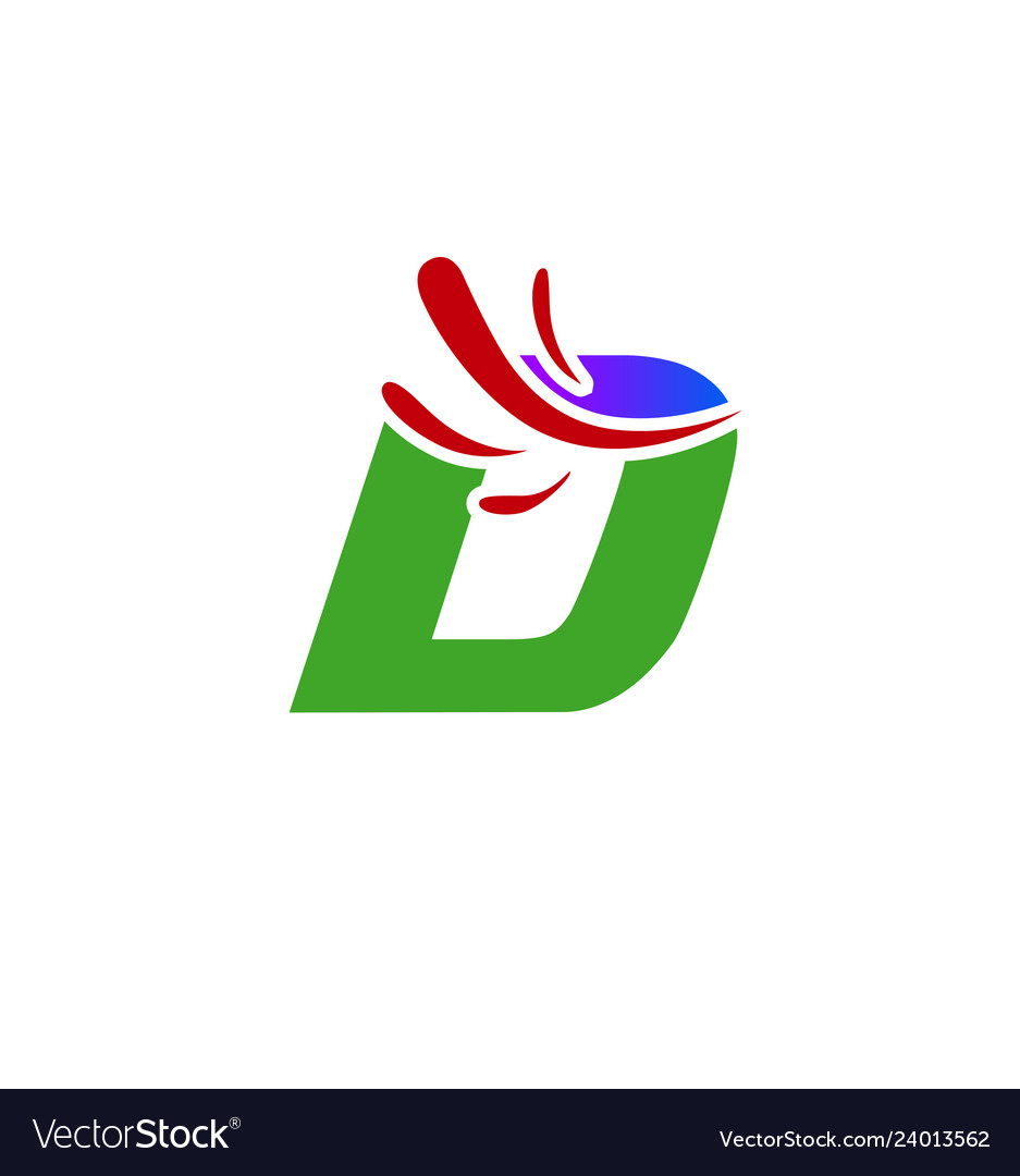 Letter d logo creative concept icon