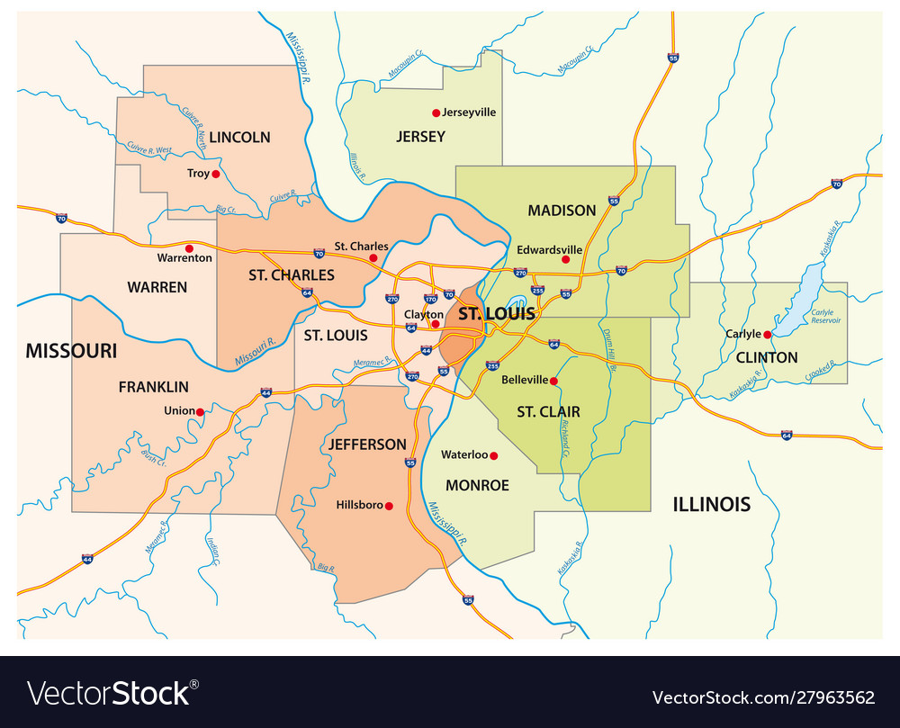 Map greater st louis area