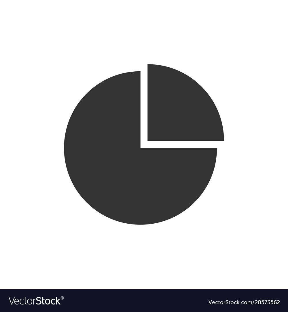 Pie chart black icon