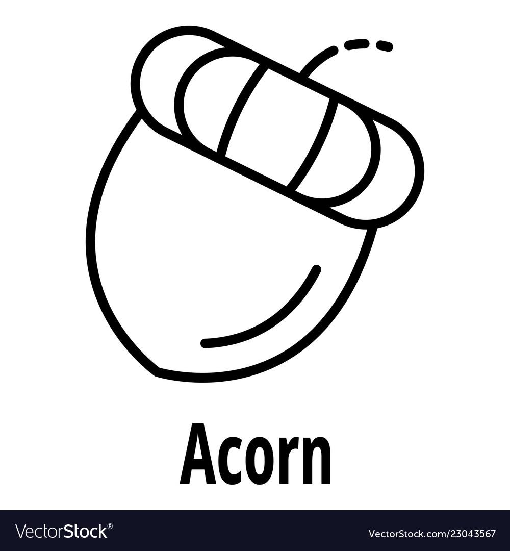 Acorn icon outline style