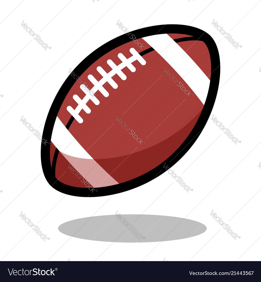 American football rugby sport ball logo line 3d