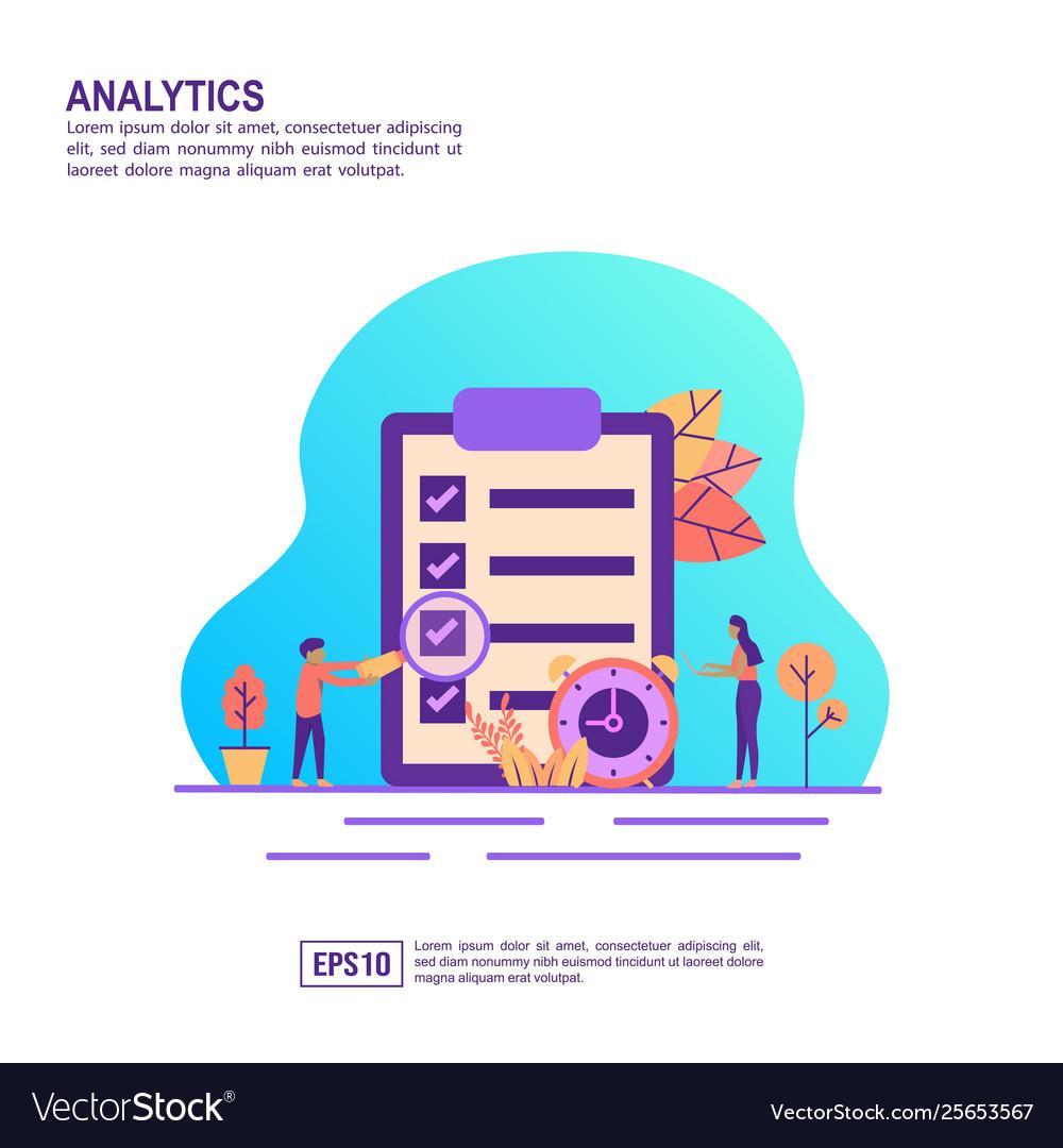 Concept analytics modern conceptual for banner