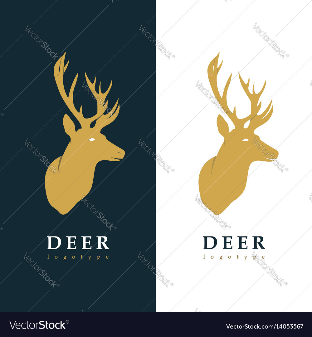 Creative logotype stylized deer