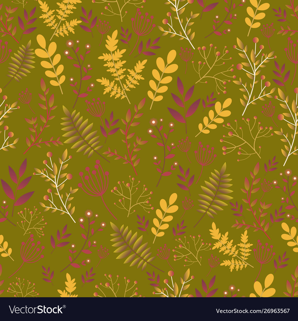 Forest wild flowers seamless floral pattern