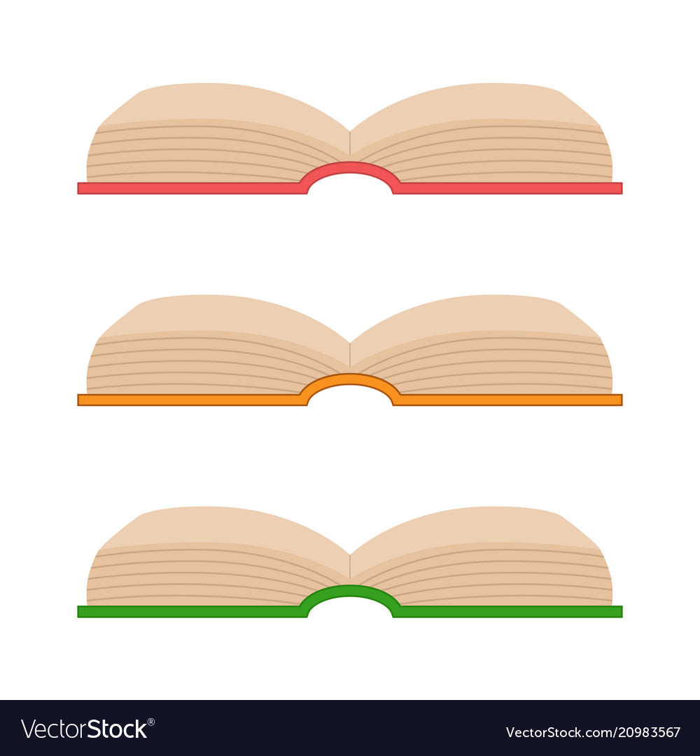Set of opening book icons