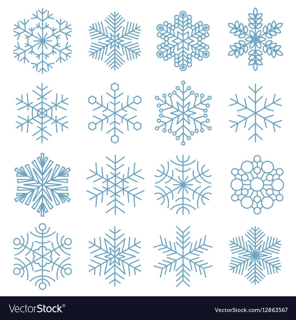 Snowflake icon collection